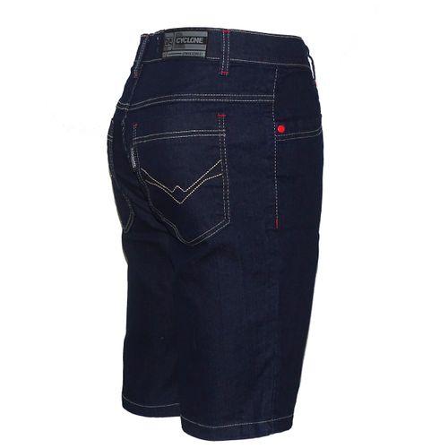Bermuda Jeans Stretch Pincelado