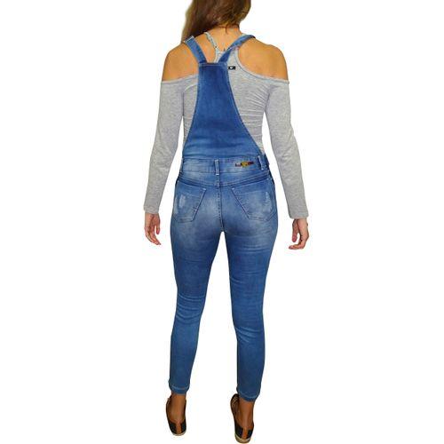 Macacão Jeans Blue Costas