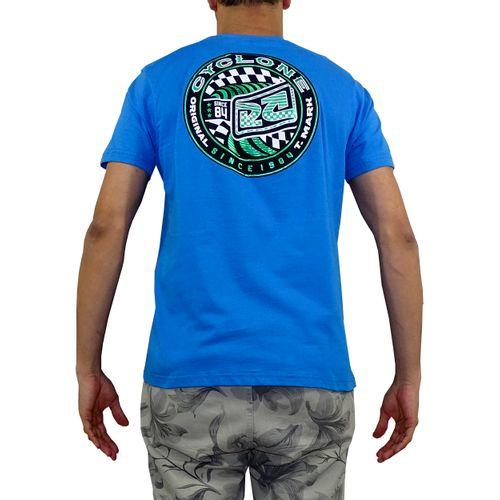 Camisa Geometric Metal Azul