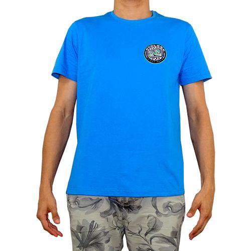 Frente Camisa Geometric Metal Azul