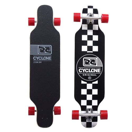 Skate Long Chess Preto