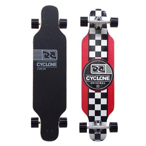 Skate Long Chess Vermelho