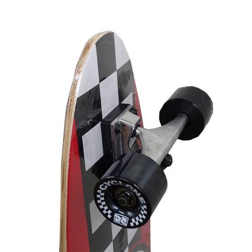 Detalhes Skate Semi Long Chess Vermelho