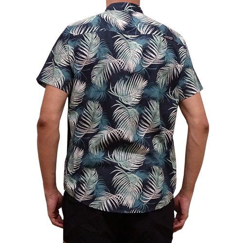 Costas Camisa Tecido Folhagem