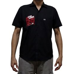 Costas Camisa Tecido Trench