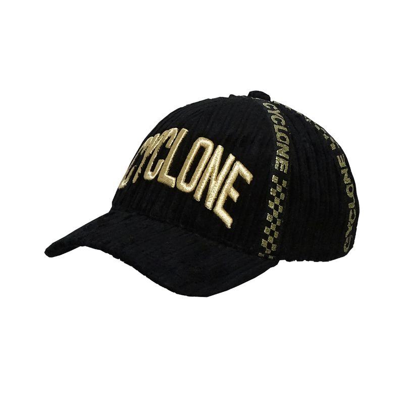 Boné Veludo Galão Gold
