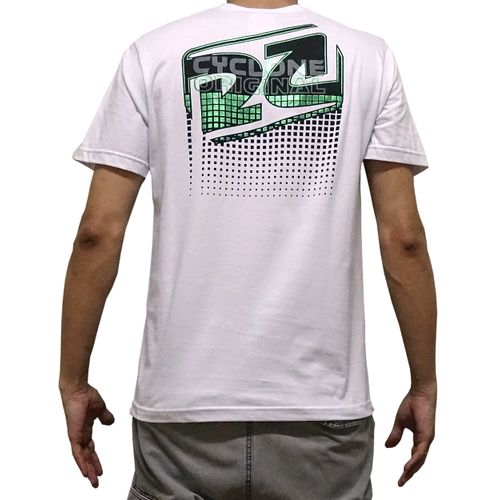 Costas Camisa Ladrilho Metal Branca