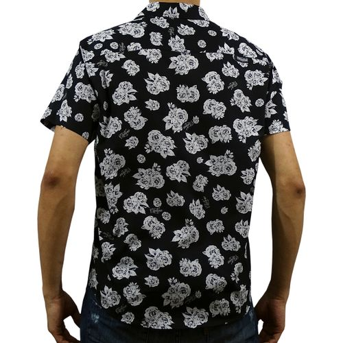 Costas Camisa Tecido Dark Flowers