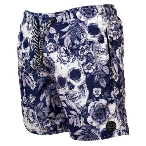 Short Curto Skull Flowers