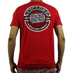 Costas Camisa Bolt Silk Vermelha