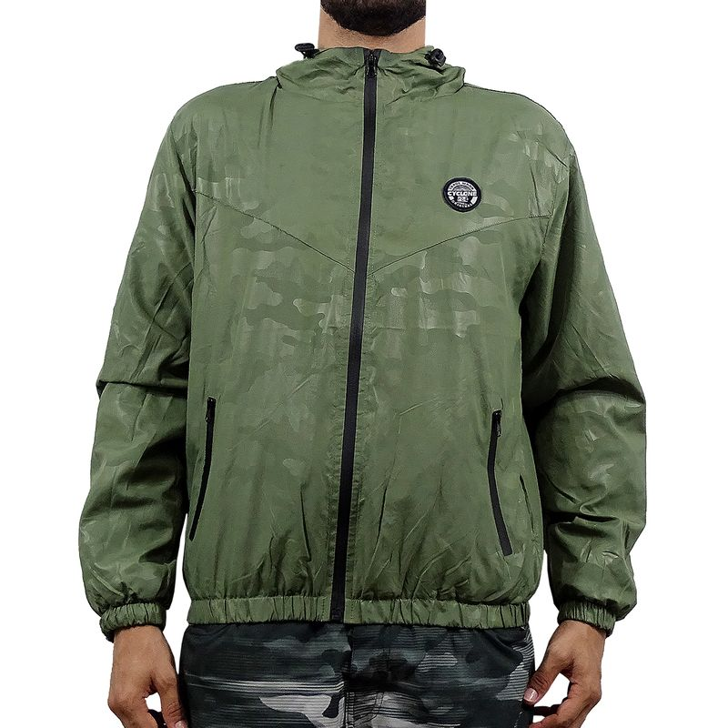 Casaco Windbreak Camuflage Verde