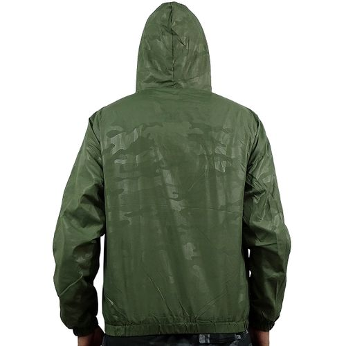Costas Casaco Windbreak Camuflage Verde
