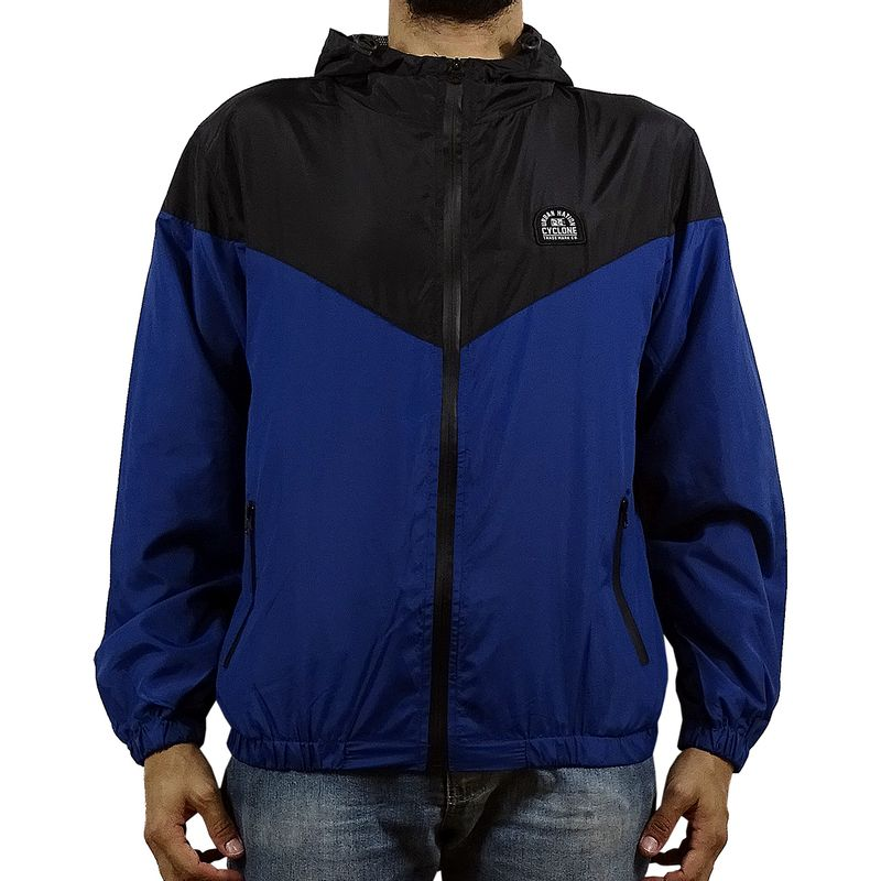 Casaco Windbreak Bicolor Azul