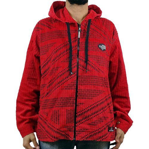 Jaqueta Veludo Point Vermelha