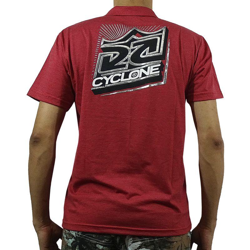 Costas Camisa Pólo New King Metal Vermelha