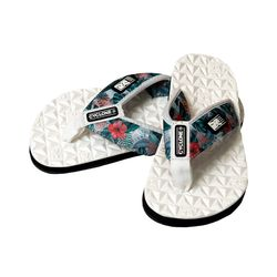 Detalhe Sandália Deck Diamond Maui Branca