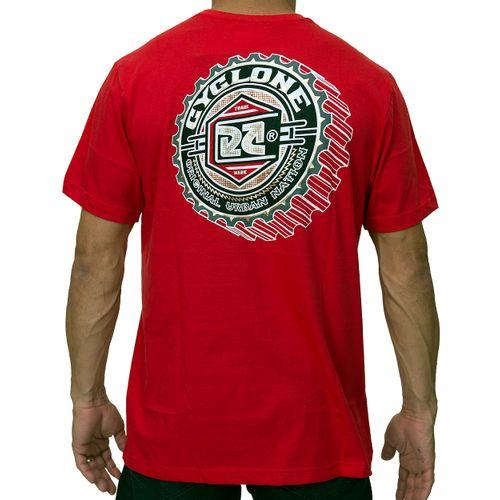 Costas Camisa Catraca Metal vermelha