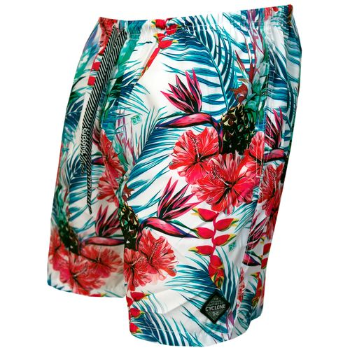 Short Curto Stretch Hibiscus