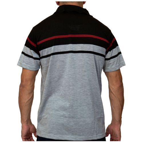 Costas Camisa Pólo Listra Maldivas Cinza Claro