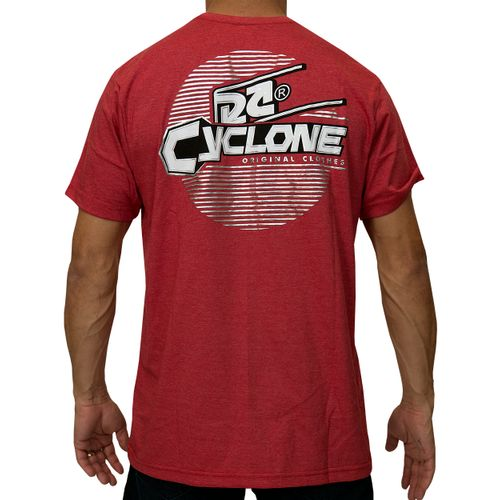 Costas Camisa Lines Metal Vermelha