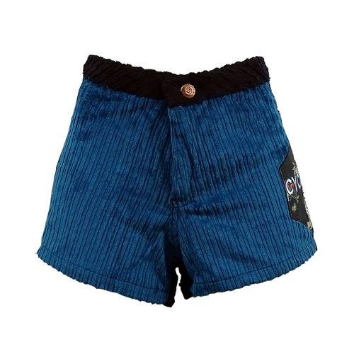 Short Veludo Leblon Azul