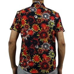 Costas Camisa Tecido Sunflower