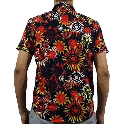 Costas Camisa Tecido Sunflower