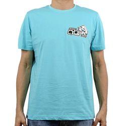 Camisa Caracol Metal Azul