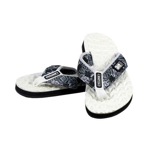 Detalhe Sandália Deck Diamond Tribal Branca