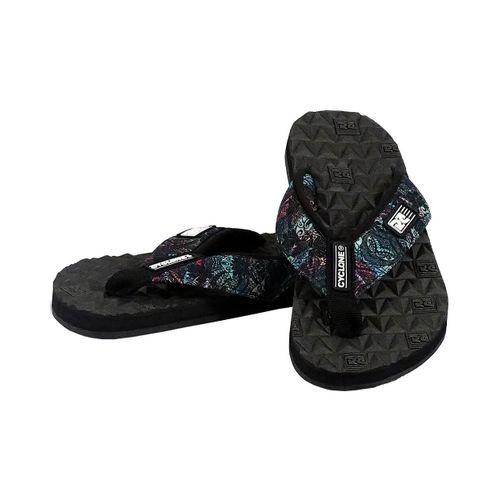 Detalhe Sandália Deck Diamond Tribal Preta