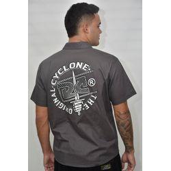 Costas Camisa Tecido Zippo Metal