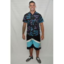 Look Camisa Tecido Tropical Summer