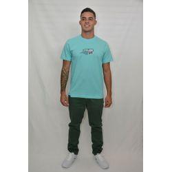 Look Camisa Texture Azul
