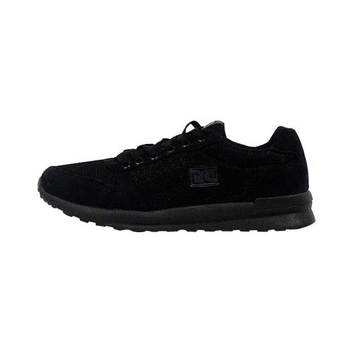 Lateral Tênis Jogger Retrô Preto Over