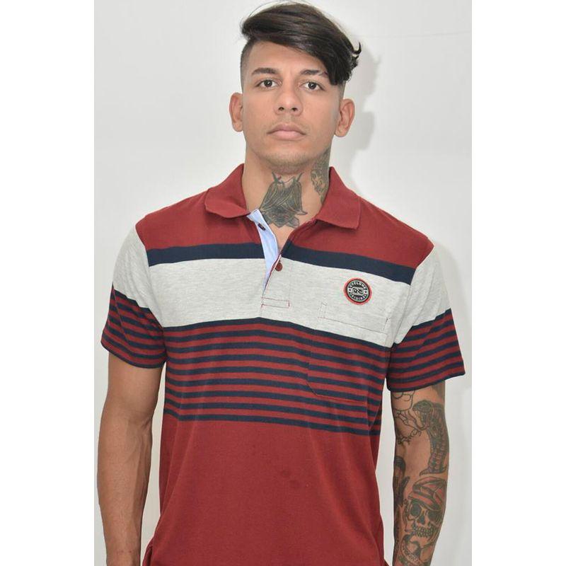 Camisa Pólo Camberra Vinho
