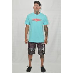 Look Camisa Relax Label Azul