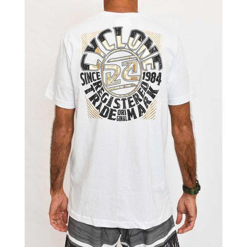 Costas Camisa Round Metal Branca