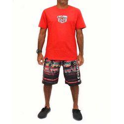 Look Costas Camisa Shield Metal Vermelha