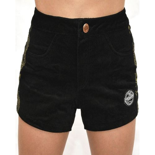 Short Veludo Vikings Preto