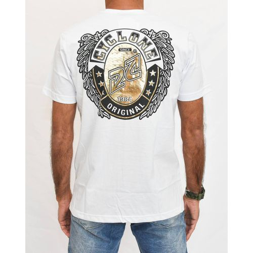Costas Camisa Burial Metal Branco