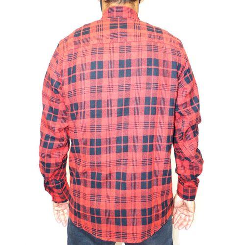 Costas Camisa Flanela Xadrez Vermelho