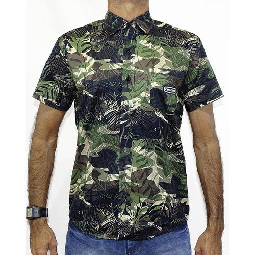 Camisa Tecido Camuflado Preto