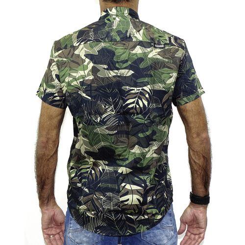 Costas Camisa Tecido Camuflado  Preto