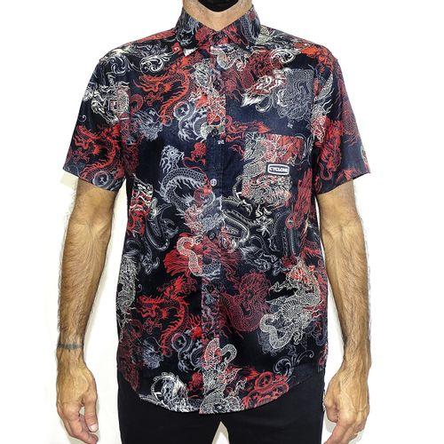 Camisa Tecido Dragon Preto