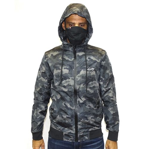 Casaco Windbreak Military Cinza