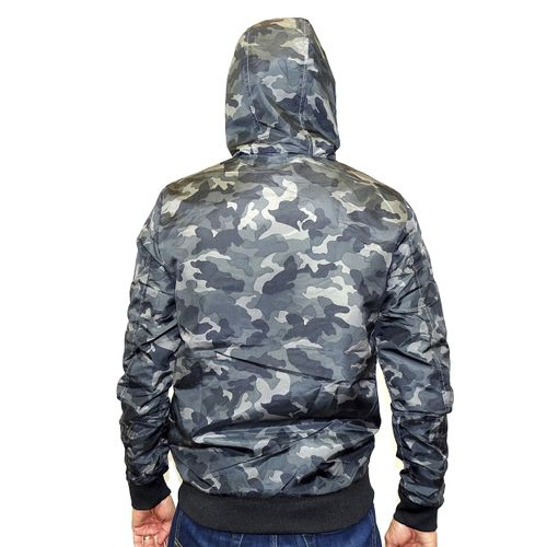 Costas Casaco Windbreak Military Cinza