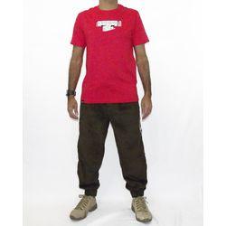 Look Camisa Alvedom Metal Vermelho