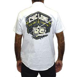 Costas Camisa Tecido Gothic Metal Branco