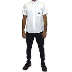 Look Camisa Tecido Gothic Metal Branco