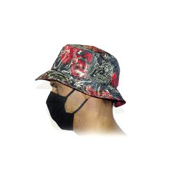 Lateral Chapéu Bucket Dragon Vermelho